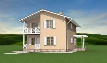 Проект дома в два этажа